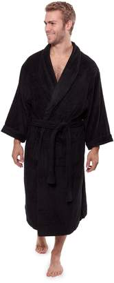 TexereSilk Men's Luxury Terry Cloth Bathrobe - Soft Spa Robe by Texere (EcoComfort