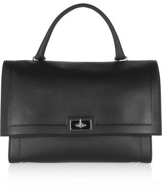 Givenchy - Medium Shark Bag In Black Textured-leather - one size $2,590 thestylecure.com