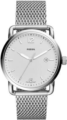 Fossil Men's Commuter Stainless Steel Mesh Bracelet Watch 42mm
