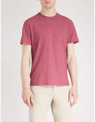 OSCAR JACOBSON Tuck cotton T-shirt