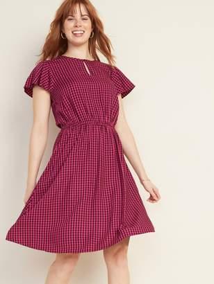 Old Navy Waist-Defined Flutter-Sleeve Dress for Women