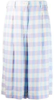 Essentiel Antwerp check knee-length shorts
