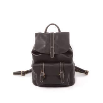 EAZO - Genuine Leather Backpack for Ladies Black