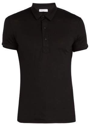 Orlebar Brown Sebastian Merino Wool Polo T Shirt - Mens - Black
