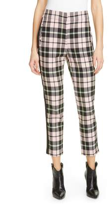 Veronica Beard Gemini Plaid Crop Trousers