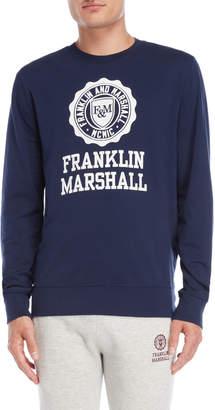 Franklin & Marshall Navy Uni Logo Pullover Sweatshirt