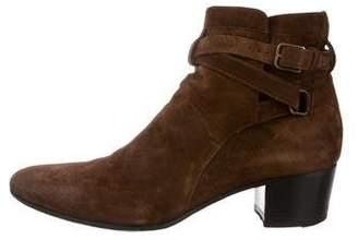 Saint Laurent Round-Toe Ankle Boots