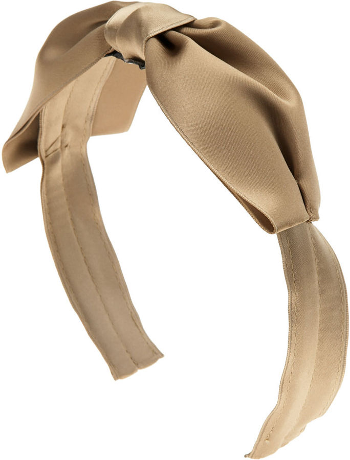 Jennifer Ouellette Satin Bow Headband