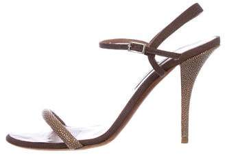 Tabitha Simmons Stingray Ankle Strap Sandals