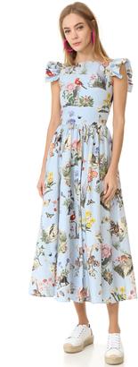 Vivetta Short Sleeve Printed Dress $493 thestylecure.com