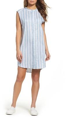 Women's Bb Dakota Sleeveless Chambray Shirtdress $90 thestylecure.com