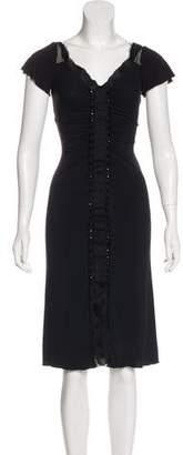 Philosophy di Alberta Ferretti Embellished Knee-Length Dress