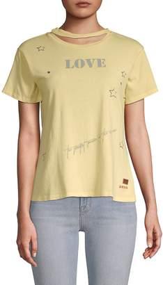 Peace Love World Women's Star Cotton Tee