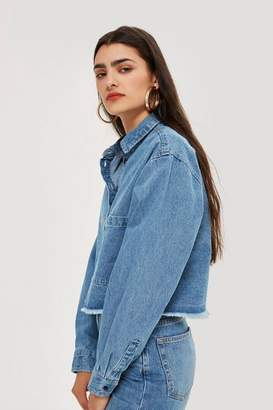 NATIVE YOUTH Cropped Denim Shirt