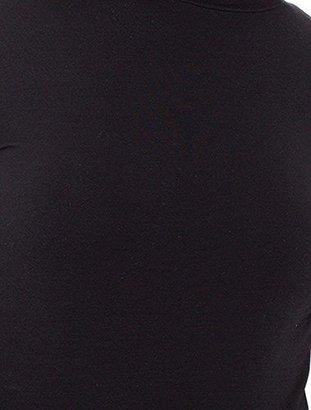 American Apparel Women's Cotton Spandex Mock Neck Cutout 'Ryder' Bodysuit $32 thestylecure.com