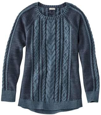 L.L. Bean L.L.Bean Women's Double L Sweater Boatneck Pullover, Plaited