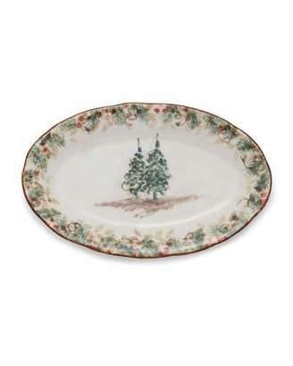 Arte Italica Natale Small Oval Tray