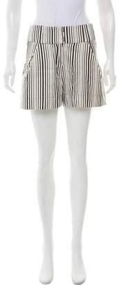 Zero Maria Cornejo Striped Mid-Rise Shorts