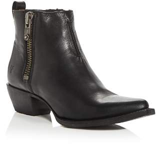 Frye Women's Sacha Western Low-Heel Moto Booties
