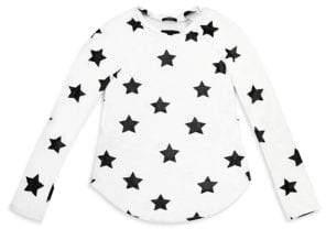 Terez Girl's Pullover Star Prints Tee