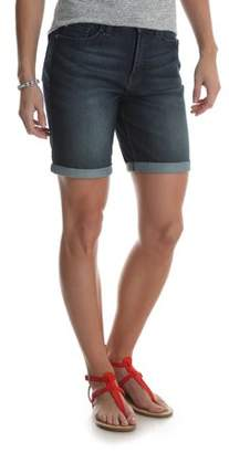 Lee Women's Denim Cuffed Curvy Bermuda Short