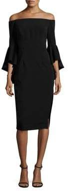 MILLY Selena Italian Cady Bell Sleeve Dress