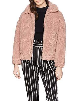 New Look Petite Women's Teddy Borg Bomber Jacket,(Manufacturer Size:)