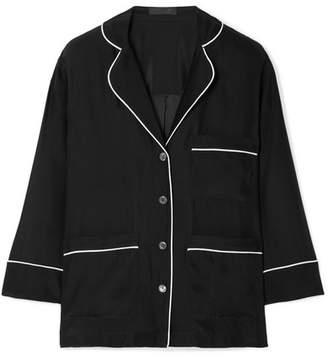 ATM Anthony Thomas Melillo Silk-charmeuse Shirt - Black