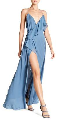Haute Hippie Metamorphosis Wrap Ruffle Silk Dress