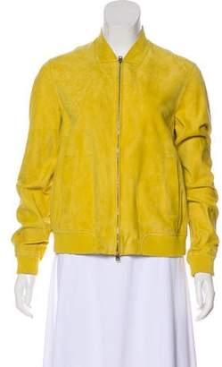 Herno Zip-Up Suede Jacket