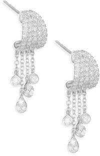 Meira T 14K White Gold& Diamond Drop Earrings
