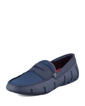 Swims Mesh and Rubber Penny Loafer, Navy $159 thestylecure.com