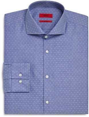 HUGO Dobby Dot Slim Fit Dress Shirt