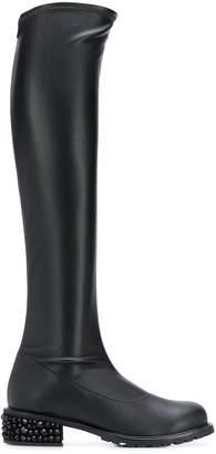 Giuseppe Zanotti embellished heel knee high boots