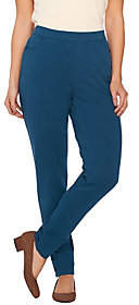 Denim & Co. Comfy Knit Denim Slim Leg Pull-OnPants