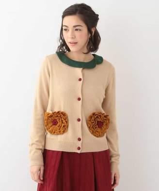 Jocomomola (ホコモモラ) - Jocomomola Flores grande knit お花モチーフカーディガン