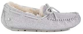 UGG UGGpure Leisure Dakota Sparkle Faux Fur-Lined Moccasins