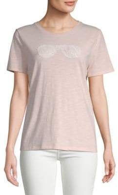 Stretch Cotton Lace Sunglasses Tee