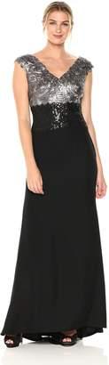 Tadashi Shoji Women's SLVS LACE/Crepe Gown