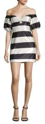 Caroline Constas Titos Striped Off-The-Shoulder Dress