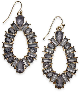 INC International Concepts I.n.c. Gold-Tone Crystal Open Drop Earrings