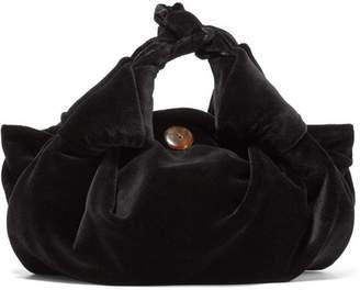 The Row Ascot Small Velvet Tote - Black