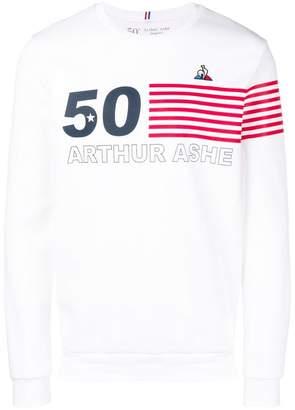 Le Coq Sportif Arthur Ashe print sweatshirt