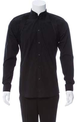 Givenchy Strap-Accented Long Sleeve Shirt