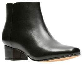 Clarks Chartli Lilac Leather Booties
