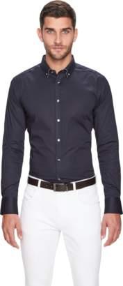 yd. NAVY BALLARD SLIM FIT DRESS SHIRT