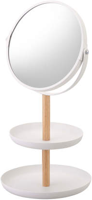 "Yamazaki Home Steel & Wood Accessory Tray/Mirror ""Tosca"""