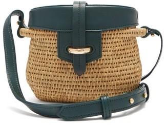 Khokho - Jabu Leather Trimmed Mini Basket Bag - Womens - Dark Green Multi