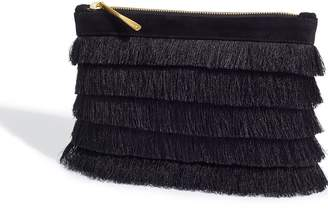Jigsaw Tassel Clutch Bag