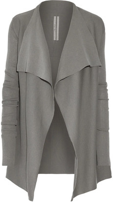 Rick Owens - Draped Cotton Cardigan - Light gray $1,160 thestylecure.com